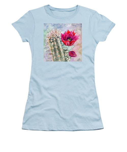 Hedgehog Cactus Women's T-Shirt (Athletic Fit)