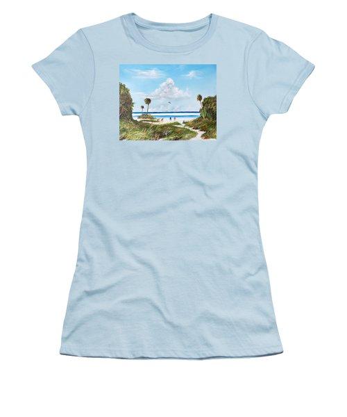 In Paradise Women's T-Shirt (Junior Cut) by Lloyd Dobson