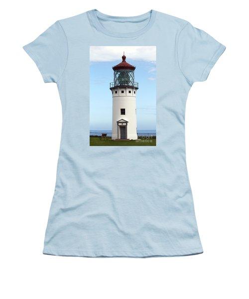 Kilauea Lighthouse On Kauai Women's T-Shirt (Junior Cut) by Catherine Sherman