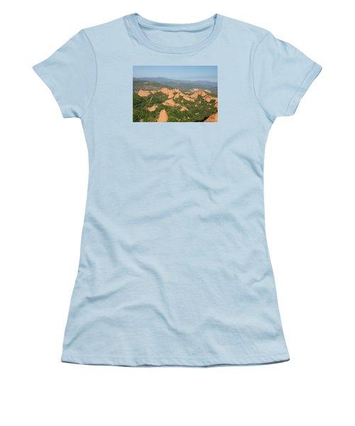 Women's T-Shirt (Junior Cut) featuring the photograph Las Medulas by Christian Zesewitz