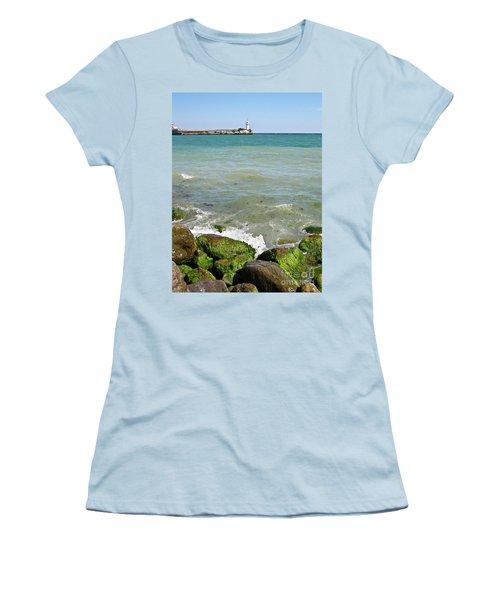 Lighthouse In Sea Women's T-Shirt (Athletic Fit)
