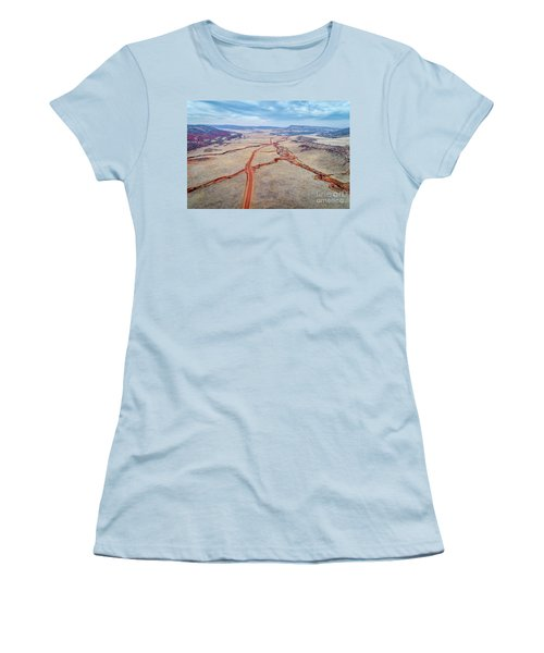 northern Colorado foothills aerial view Women's T-Shirt (Athletic Fit)