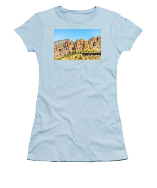 Women's T-Shirt (Athletic Fit) featuring the photograph Smith Rock by Jonny D