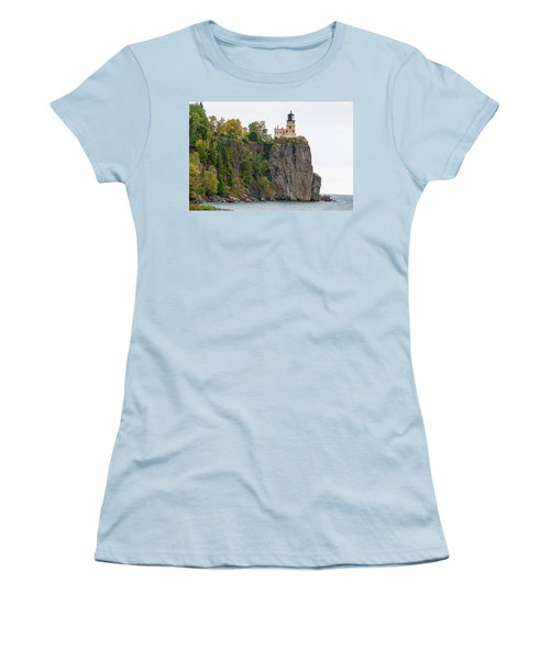 Split Rock Lighthouse Women's T-Shirt (Junior Cut) by Steve Stuller