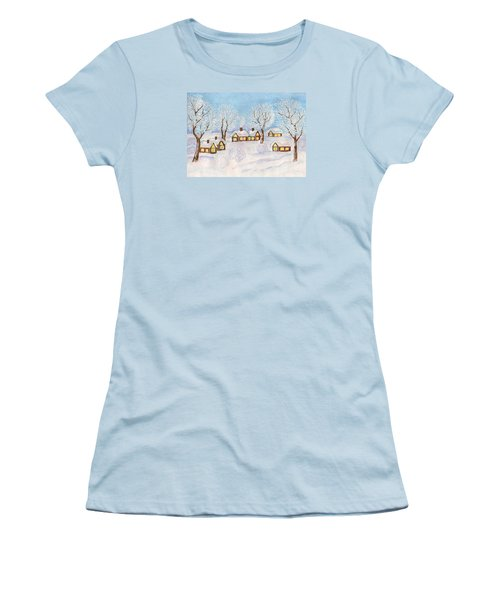 Winter Landscape, Painting Women's T-Shirt (Athletic Fit)