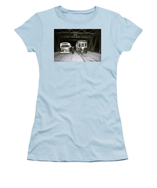 207th Street Crosstown Trolley Women's T-Shirt (Athletic Fit)