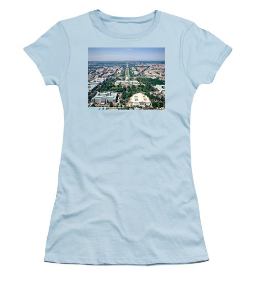 Aerial View Of Buildings In A City Women's T-Shirt (Athletic Fit)