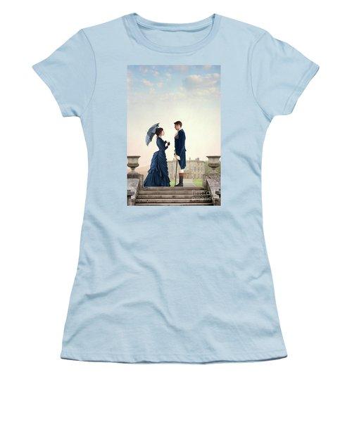 Victorian Couple  Women's T-Shirt (Junior Cut) by Lee Avison