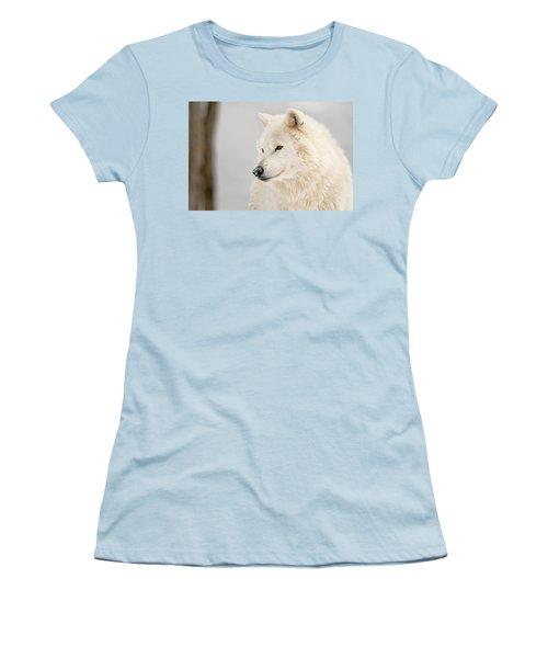 Arctic Wolf Portrait Women's T-Shirt (Athletic Fit)