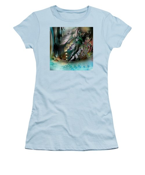 Women's T-Shirt (Junior Cut) featuring the pastel Art Abstract by Sheila Mcdonald