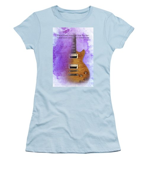 Darius Rucker Inspirational Quote, Electric Guitar Poster For Music Lovers And Musicians Women's T-Shirt (Athletic Fit)