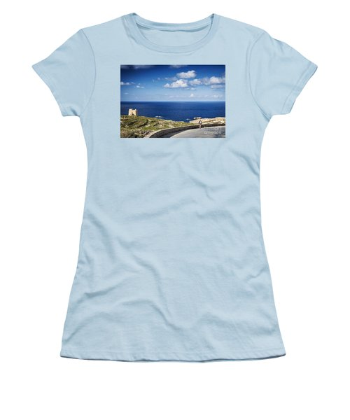 Fort And Coast View Of Gozo Island In Malta Women's T-Shirt (Athletic Fit)