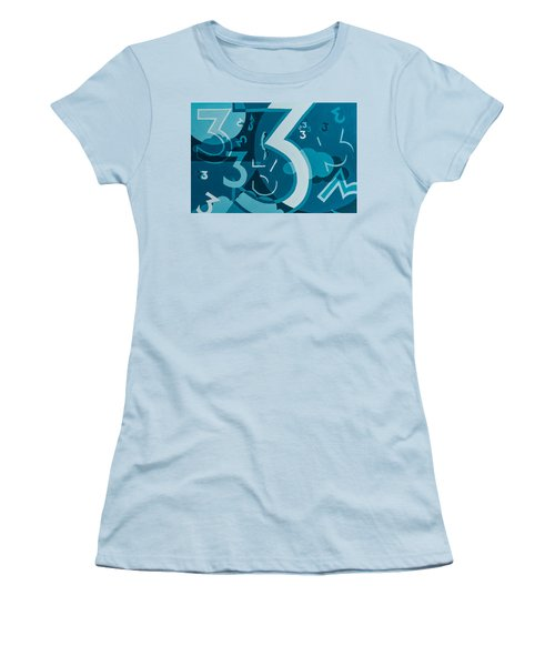 3 In Blue Women's T-Shirt (Athletic Fit)