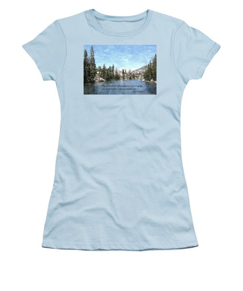 Inspirations 1 Women's T-Shirt (Junior Cut) by Sara  Raber