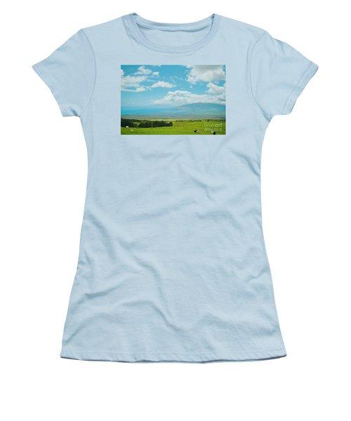 Kula Maui Hawaii Women's T-Shirt (Junior Cut) by Sharon Mau