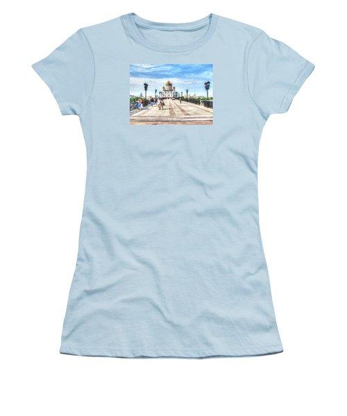 Moscow Russia Women's T-Shirt (Junior Cut) by Yury Bashkin