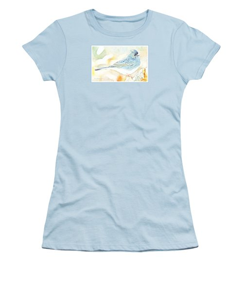 Slate-colored Junco, Snowbird, Male, Animal Portrait Women's T-Shirt (Athletic Fit)