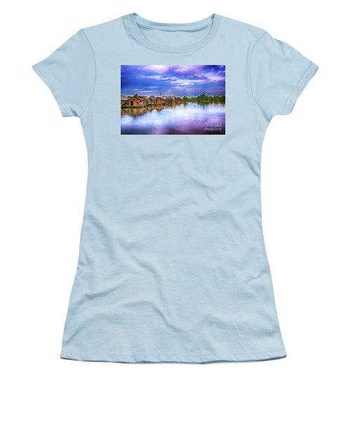 Women's T-Shirt (Junior Cut) featuring the photograph Village by Charuhas Images