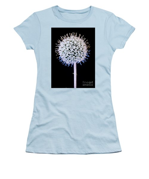 White Alium Onion Flower Women's T-Shirt (Junior Cut) by Colin Rayner