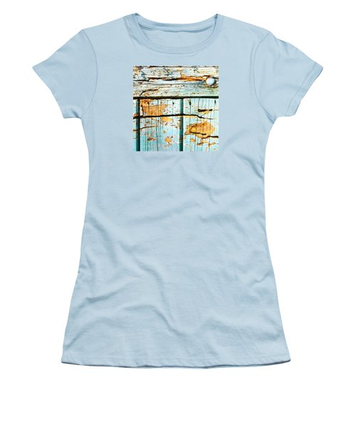 Wooden Background Women's T-Shirt (Athletic Fit)