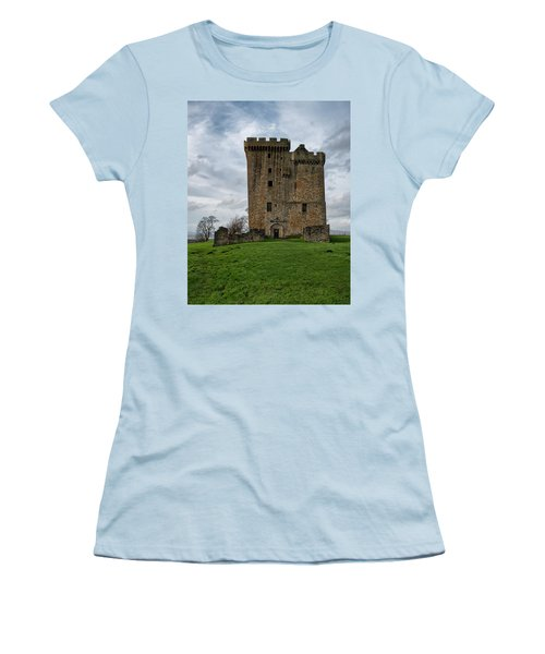 Women's T-Shirt (Athletic Fit) featuring the photograph Clackmannan Tower by Jeremy Lavender Photography