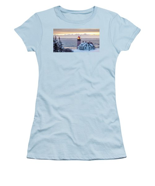 West Quoddy Lighthouse Women's T-Shirt (Junior Cut) by Trace Kittrell