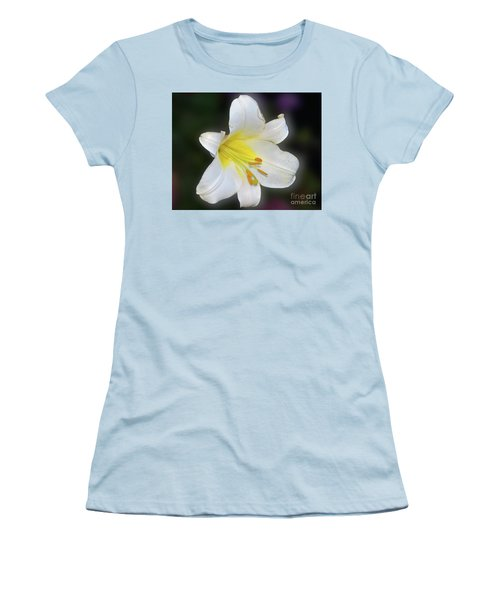 Women's T-Shirt (Junior Cut) featuring the photograph White Lily by Elvira Ladocki