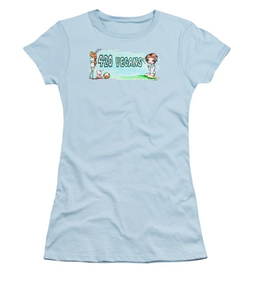 420 Vegans Women's T-Shirt (Athletic Fit)