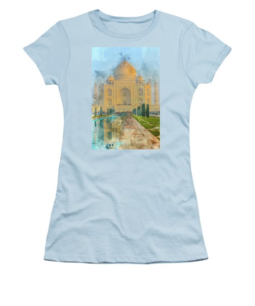 Taj Mahal In Agra India Women's T-Shirt (Athletic Fit)