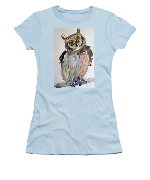 Owl Women's T-Shirt (Junior Cut) by Kovacs Anna Brigitta