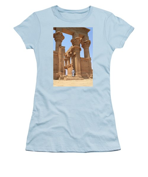 Temple Of Isis Women's T-Shirt (Junior Cut) by Silvia Bruno