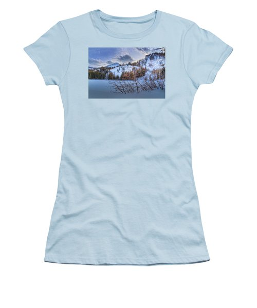 Wasatch Mountains In Winter Women's T-Shirt (Junior Cut) by Utah Images