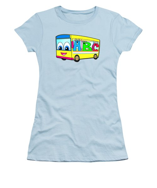 A B C Bus T-shirt Women's T-Shirt (Junior Cut) by Herb Strobino
