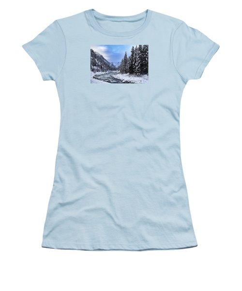 A Cold Winter Day  Women's T-Shirt (Junior Cut) by Lynn Hopwood