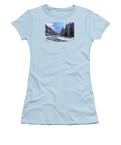 A Cold Winter Day  Women's T-Shirt (Athletic Fit)