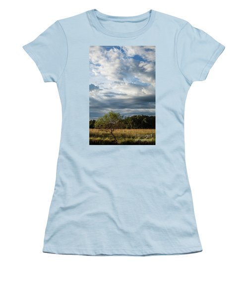 Women's T-Shirt (Junior Cut) featuring the photograph A Day In The Prairie by Iris Greenwell
