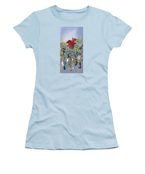A Face In The Crowd Women's T-Shirt (Junior Cut) by Mary Kay Holladay