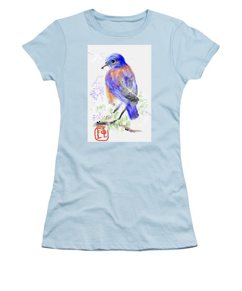 A Little Bird In Blue Women's T-Shirt (Athletic Fit)