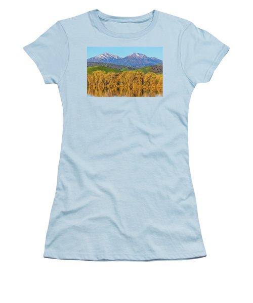 A Little Snow On Mt. Diablo Women's T-Shirt (Athletic Fit)