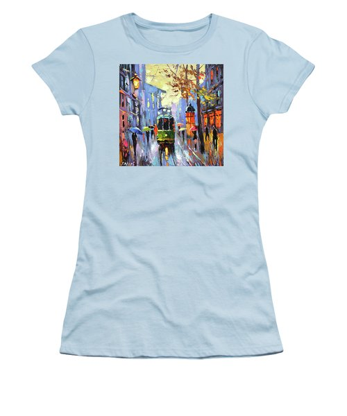 A Lonley Tram  Women's T-Shirt (Athletic Fit)