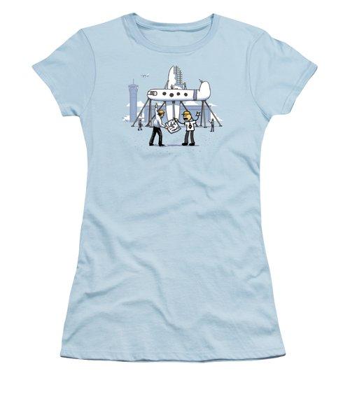 Women's T-Shirt (Junior Cut) featuring the digital art A Matter Of Perspective by Ben Hartnett