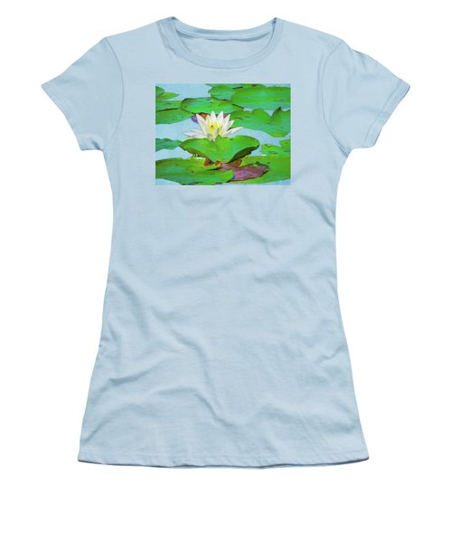 A Single Water Lily Blossom Women's T-Shirt (Athletic Fit)