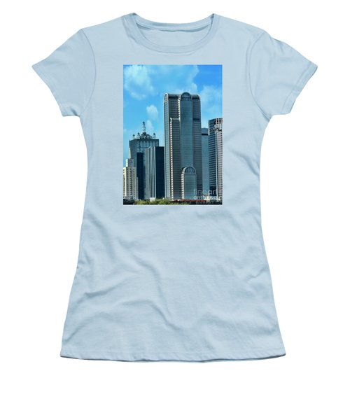 A Slice Of Dallas Women's T-Shirt (Junior Cut) by Joan Bertucci