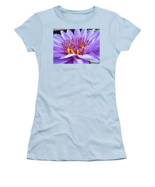 A Sliken Purple Water Lily Women's T-Shirt (Athletic Fit)