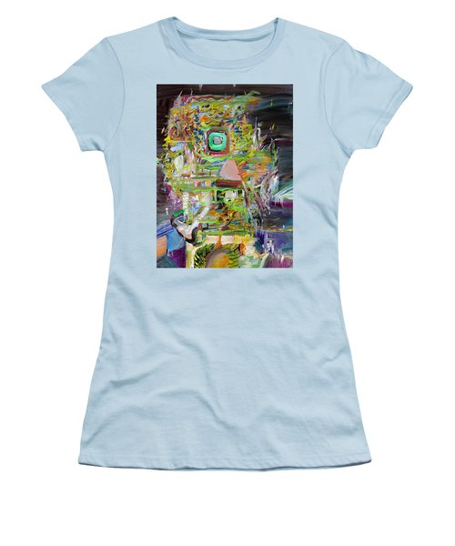 Women's T-Shirt (Junior Cut) featuring the painting A Small Portion Of Herself by Fabrizio Cassetta