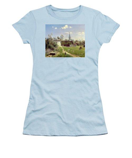 A Small Yard In Moscow Women's T-Shirt (Junior Cut) by Vasilij Dmitrievich Polenov