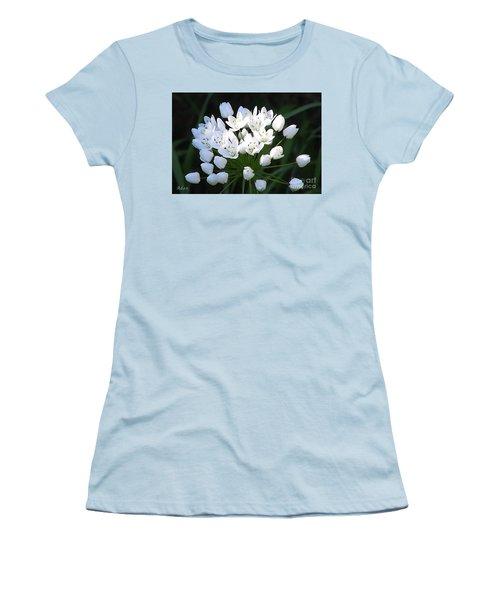 Women's T-Shirt (Junior Cut) featuring the photograph A Spray Of Wild Onions by Felipe Adan Lerma