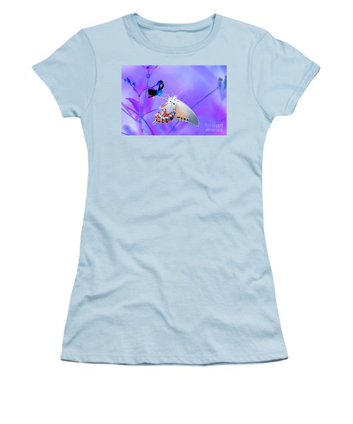 A Strange Butterfly Dream Women's T-Shirt (Junior Cut) by Kim Pate