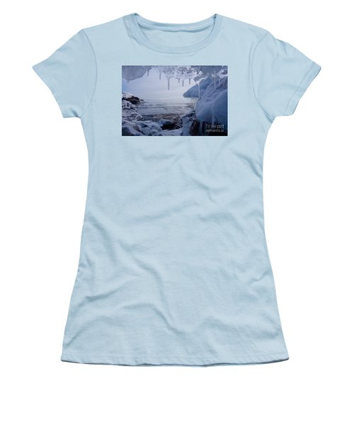 A Superior Ice Cave Women's T-Shirt (Junior Cut) by Sandra Updyke
