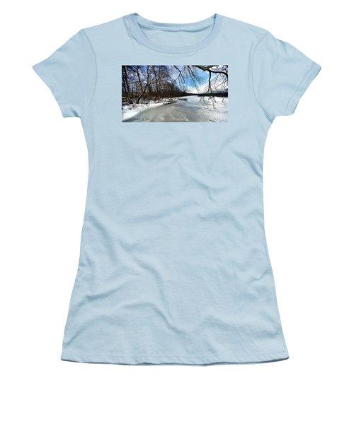 A Winters Day Women's T-Shirt (Junior Cut) by Diane Giurco